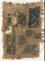 Sampler fragment with ten short bands (EA1984.499)