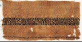 Textile fragment with band of Z-shapes and squares (EA1984.521.b)