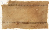 Textile fragment with two parallel bands of circles and S-shapes (EA1984.522)
