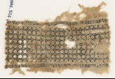 Textile fragment with interlacing knots