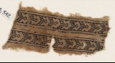 Textile fragment with chevrons and S-shapes (EA1984.542)