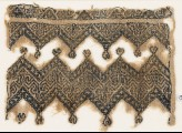 Textile fragment with chevrons and linked trefoils (EA1984.560)