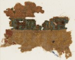 Textile fragment with prancing lions or leopards (EA1984.574)