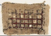 Textile fragment with rectangle containing squares (EA1984.618)