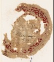 Roundel textile fragment with vine border (EA1984.81)
