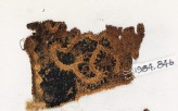 Textile fragment with Maltese cross