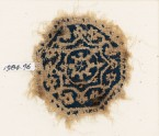 Textile fragment with an octagon, rosette, and vine