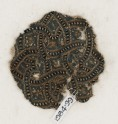 Roundel textile fragment with interlace