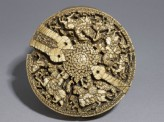 Casket lid with huntsmen and animals