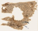 Textile fragment with palmettes, interlacing leaves, and tendrils (EA1988.17)