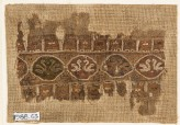 Textile fragment with linked medallions and birds (EA1988.63)