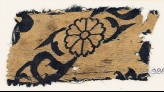 Textile fragment with flowers and leaves (EA1988.69)