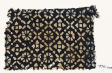 Textile fragment with flowers, quatrefoils, and rosettes (EA1990.106)