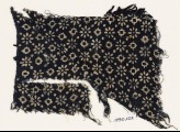 Textile fragment with rosettes, lobed squares, and dots (EA1990.122)