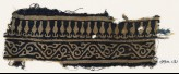 Textile fragment with vine and stylized bodhi leaves (EA1990.131)