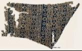 Textile fragment with vines, rosettes, and diamond-shapes (EA1990.137)