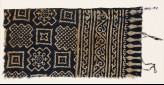 Textile fragment with squares and stepped squares (EA1990.157)