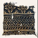 Textile fragment with diamond-shapes, S-shapes, and quatrefoils (EA1990.158)