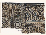 Textile fragment with rosettes, arches, stylized trees or flowers, and leaves (EA1990.161)
