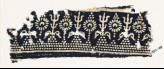 Textile fragment with stylized trees and flowers (EA1990.169)