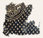 Textile fragment with large quatrefoil and small stars (EA1990.171)