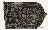 Tab with stylized flowering plant, rosette, and vine (EA1990.177)