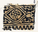 Textile fragment with medallion, flower, and tendrils (EA1990.200)