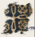Textile fragment with cross and Maltese crosses (EA1990.204)
