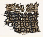 Textile fragment with reversed S-shapes, rosettes, and flowers