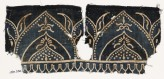 Textile fragment with arches and flower-heads on tabs (EA1990.230)