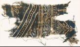 Textile fragment with dotted vine and row of dots (EA1990.233)