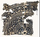 Textile fragment with medallion and petals (EA1990.244)