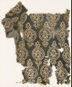 Textile fragment with ovals and stylized floral shapes (EA1990.253)