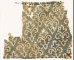 Textile fragment with stylized trefoil plants (EA1990.254)