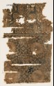 Textile fragment with rosettes, quatrefoils, and interlace based on script (EA1990.274)