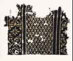 Textile fragment with linked chevrons, flowers, and leaves (EA1990.31)