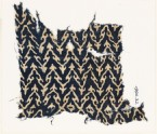 Textile fragment with linked chevrons and trefoils (EA1990.32)