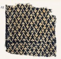 Textile fragment with linked chevrons and trefoils (EA1990.33)