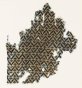 Textile fragment with linked chevrons and trefoils (EA1990.34)