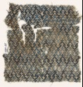 Textile fragment with linked chevrons and trefoils (EA1990.35)