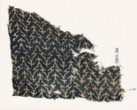Textile fragment with linked chevrons and trefoils (EA1990.36)