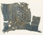 Textile fragment with dots, Z-shapes, and stars (EA1990.59)