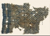Textile fragment with rosettes and linked S-shapes made of dots (EA1990.60)