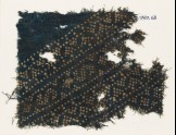 Textile fragment with triangles and S-shapes made of dots (EA1990.63)