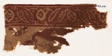 Textile fragment with leaves and flower-heads