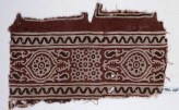 Textile fragment with oval medallions, tendrils, and linked rosettes