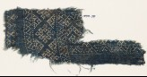 Textile fragment with dots arranged in a geometric pattern (EA1990.70)