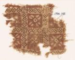 Textile fragment with grid and quatrefoils (EA1990.735)