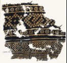 Textile fragment with rosettes and bandhani, or tie-dye, imitation (EA1990.77)
