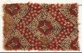 Textile fragment with quatrefoils and heart-shaped petals (EA1990.773)
